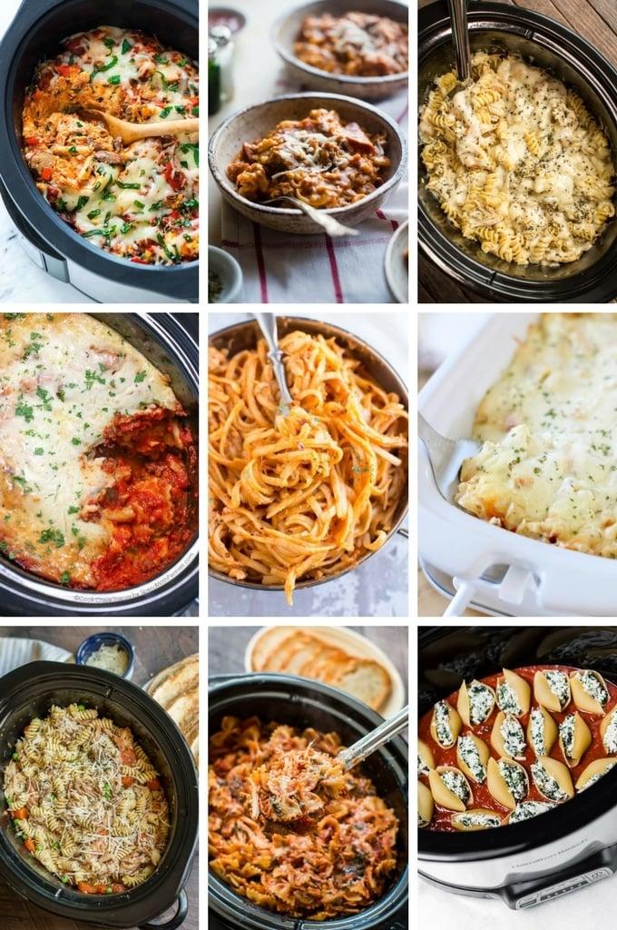 Slow Cooker Pasta Recipes including pizza pasta, ravioli lasagna and stuffed shells.