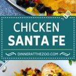 Chicken Santa Fe Recipe   Mexican Chicken   Santa Fe Chicken   Easy Chicken Recipe