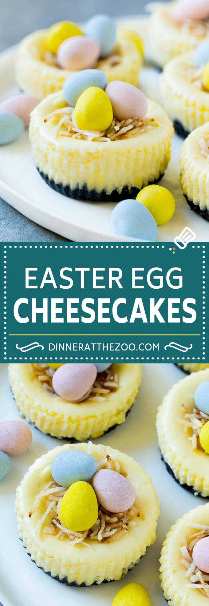 Easter Egg Cheesecakes Recipe Mini Dessert Birds Nest Cheesecake