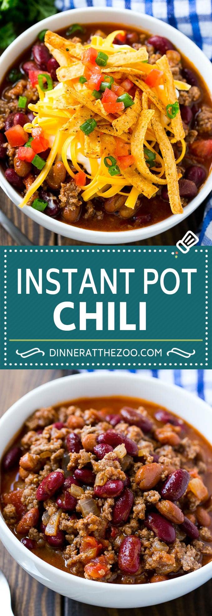 Instant Pot Chili | Beef Chili | Easy Chili Recipe #instantpot #chili #dinneratthezoo