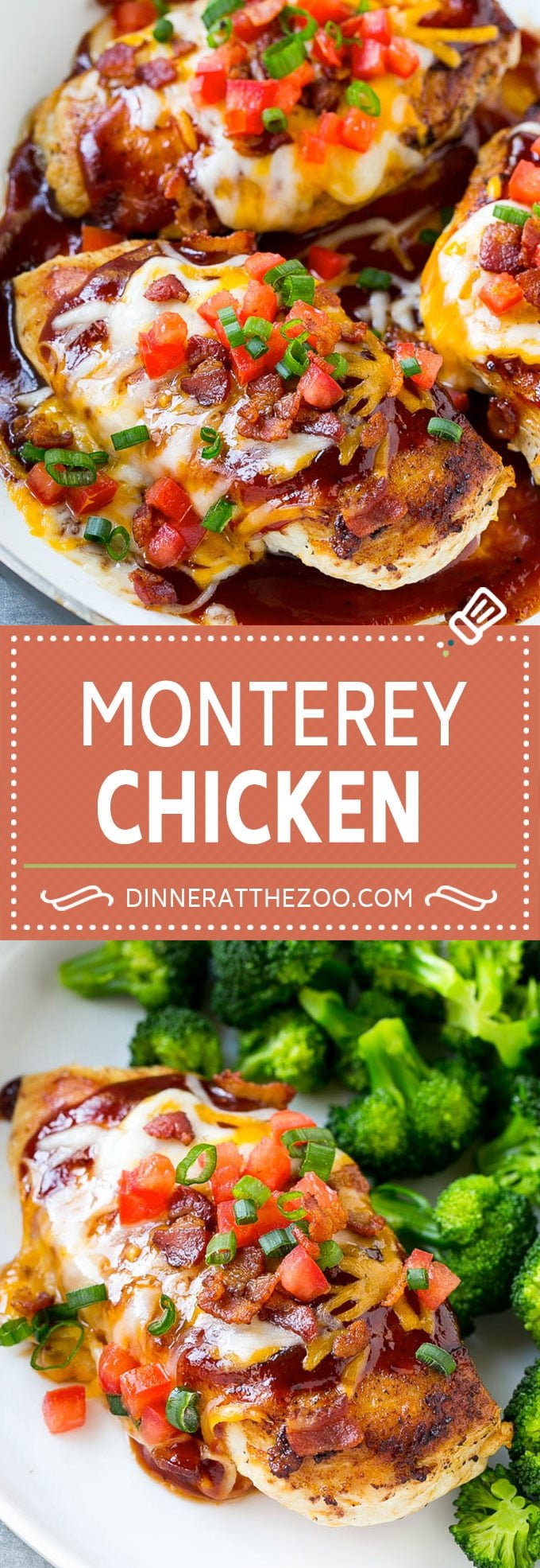 Monterey Chicken Recipe | Chili's Copycat Monterey Chicken | Barbecue Chicken Recipe | Easy Chicken Recipe #chicken #bacon #bbq #cheese #dinner #dinneratthezoo