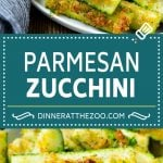 Parmesan Zucchini Recipe | Roasted Zucchini | Baked Zucchini | Zucchini Side Dish