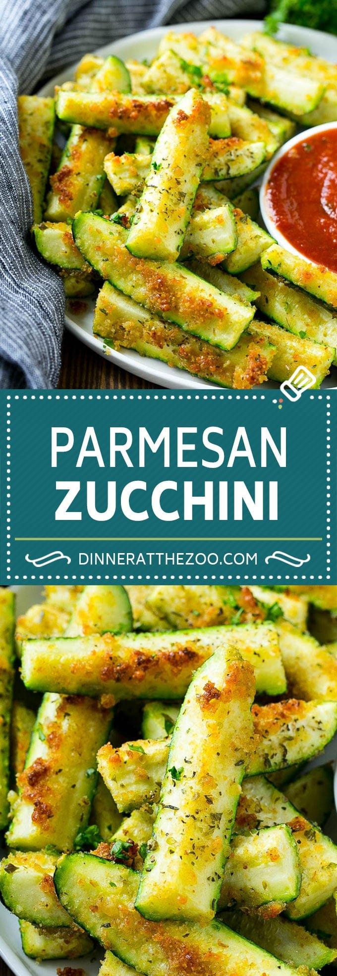 Parmesan Zucchini Recipe | Roasted Zucchini | Baked Zucchini | Zucchini Side Dish #zucchini #parmesan #sidedish #dinner #dinneratthezoo