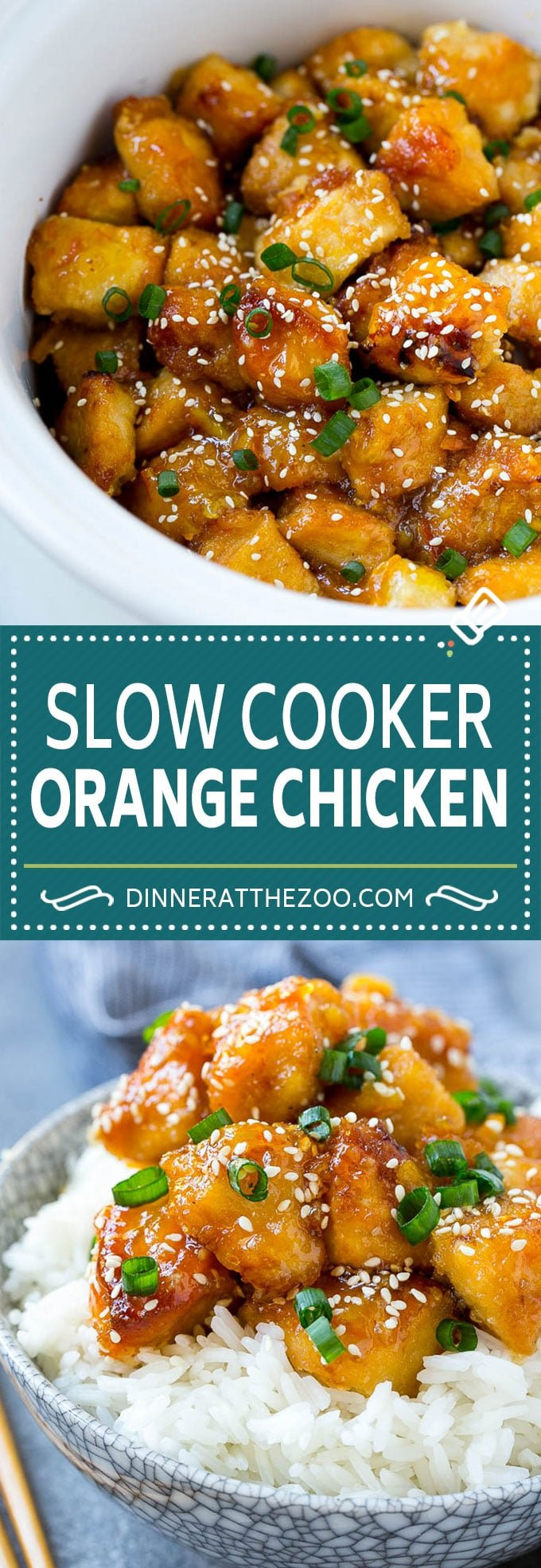 Slow Cooker Orange Chicken Recipe | Copycat Orange Chicken | Crock Pot Orange Chicken | Slow Cooker Chicken Recipe #orange #chicken #orangechicken #slowcooker #crockpot #dinner #dinneratthezoo