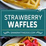 Strawberry Waffles | Homemade Waffles Recipe | Waffles with Strawberry Sauce | Homemade Strawberry Sauce