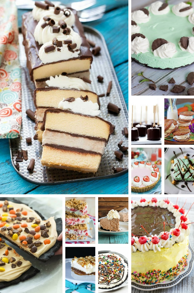 Summer Dessert Recipes for frozen treats such as ice cream pies, cakes and frozen layered desserts.