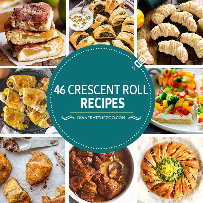 A comprehensive list of crescent roll recipes including ideas for breakfast, appetizers, dinners and desserts!