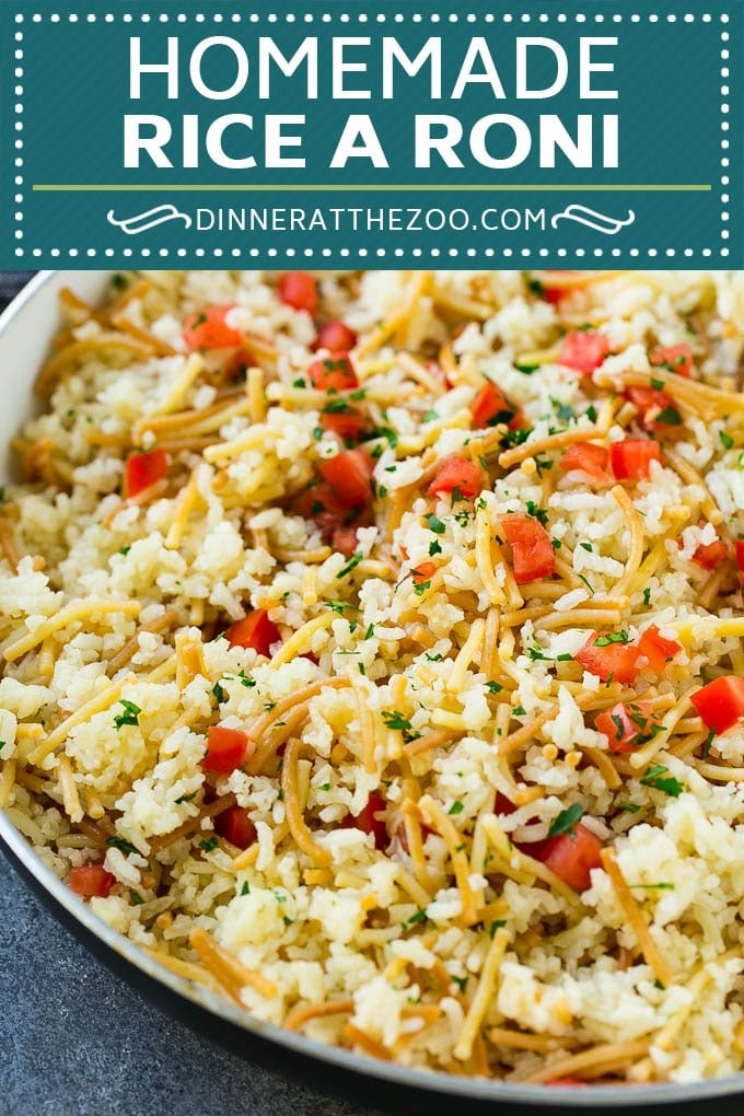 Homemade Rice a Roni Recipe | Rice Side Dish | Easy Rice Recipe #rice #sidedish