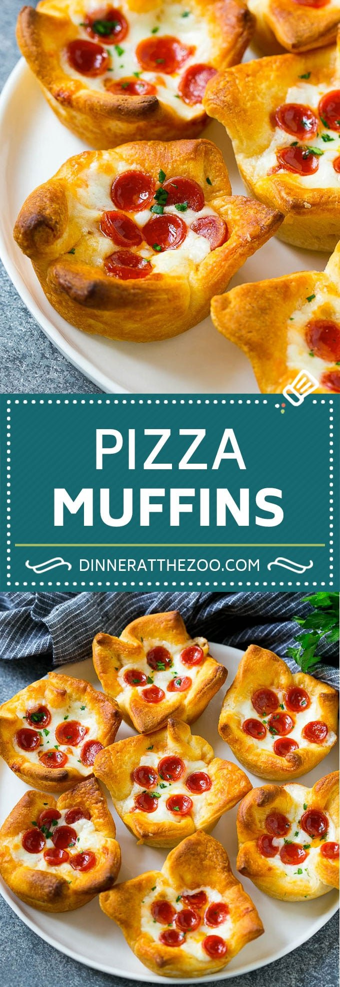 Pizza Muffins Recipe | Pizza Bites | Pizza Cups | Pizza Appetizer #pizza #appetizer #dinneratthezoo