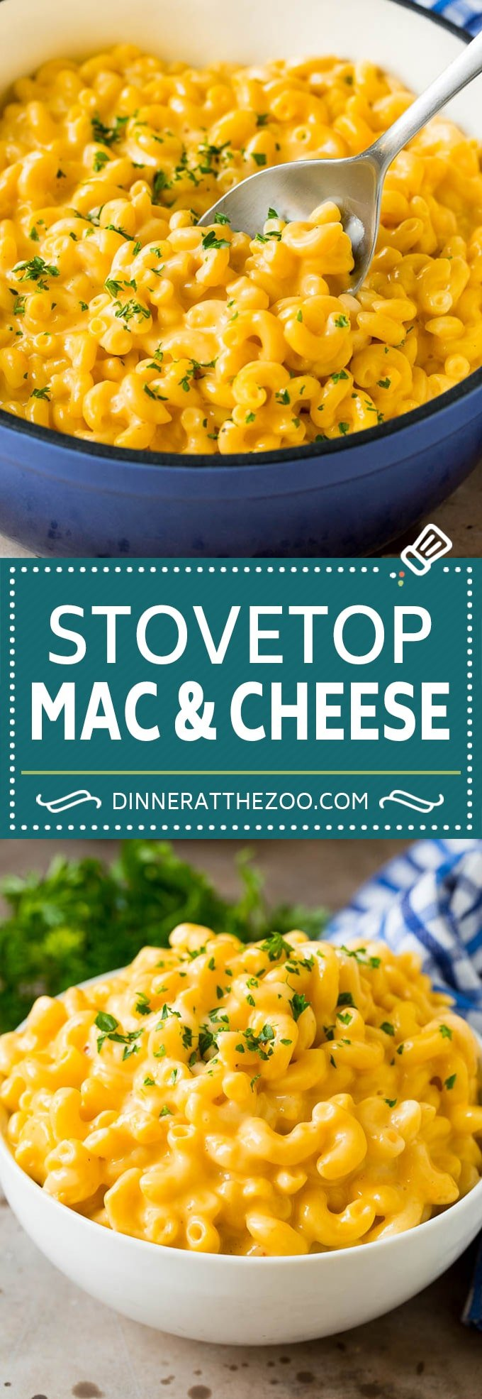 This stovetop mac and cheese is a one pot dish of tender macaroni simmered in an ultra creamy sauce with two types of cheese.