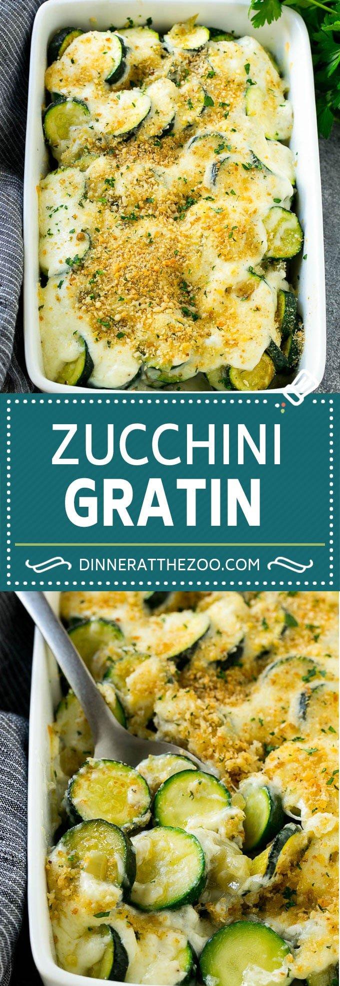 Zucchini Gratin Recipe | Cheesy Zucchini | Baked Zucchini | Easy Zucchini Recipe #zucchini #casserole #cheese #dinner #sidedish #dinneratthezoo