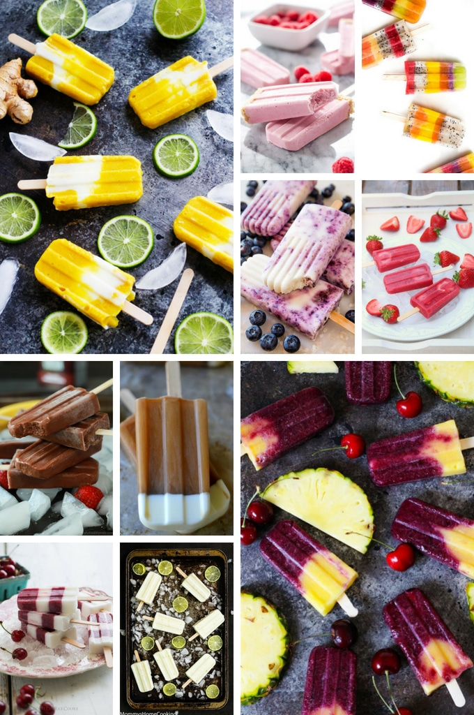 Frozen desserts such as mango, cherry, coffee and key lime popsicles.