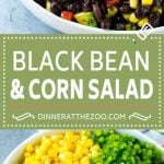 Black Bean and Corn Salad Recipe | Mexican Salad | Black Bean Salad | Bean Salad #salad #beans #corn #mexicanfood #dinneratthezoo