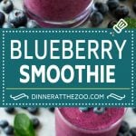 Blueberry Smoothie Recipe | Healthy Blueberry Smoothie | Smoothie Recipe #blueberry #smoothie #drink #dinneratthezoo