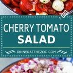 Cherry Tomato Salad Recipe | Tomato Mozzarella Salad | Caprese Salad | Tomato Salad #tomatoes #salad #tomatosalad #caprese #dinneratthezoo