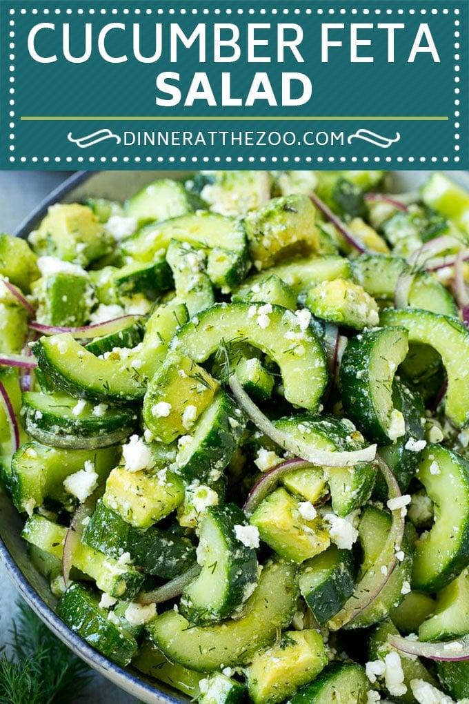 Cucumber Feta Salad Recipe | Cucumber Salad | Feta Cheese Salad | Summer Salad #salad #cucumber #dinneratthezoo