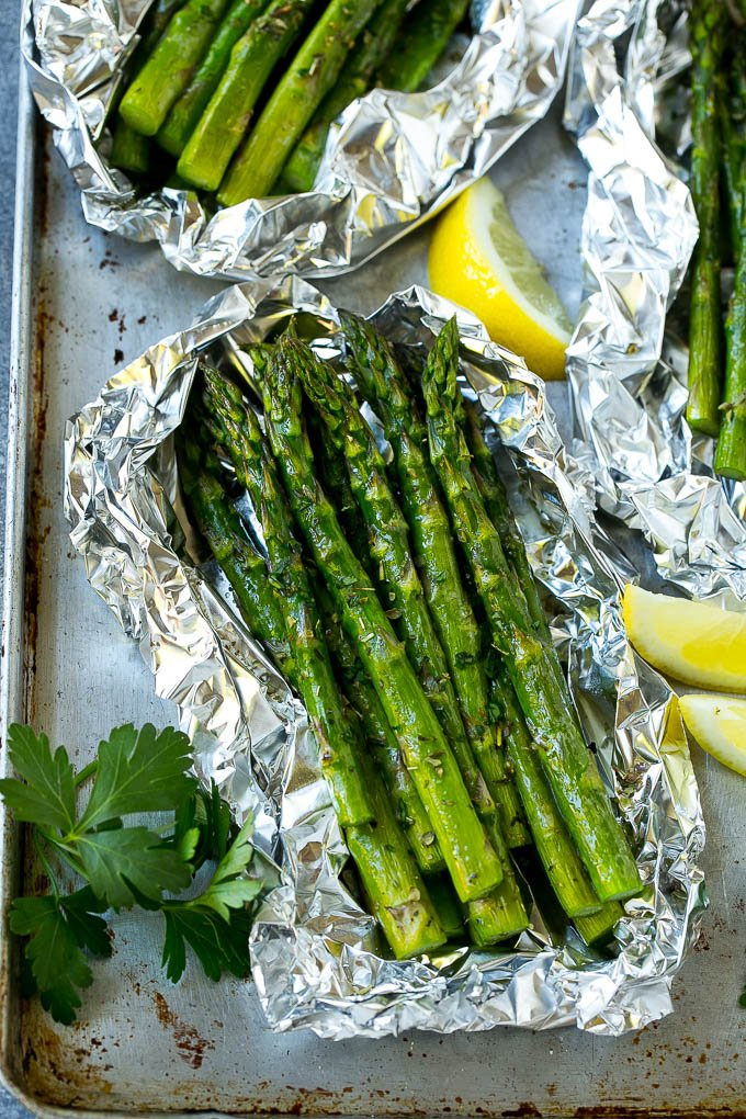 Grilled Asparagus In Foil Dinner At The Zoo