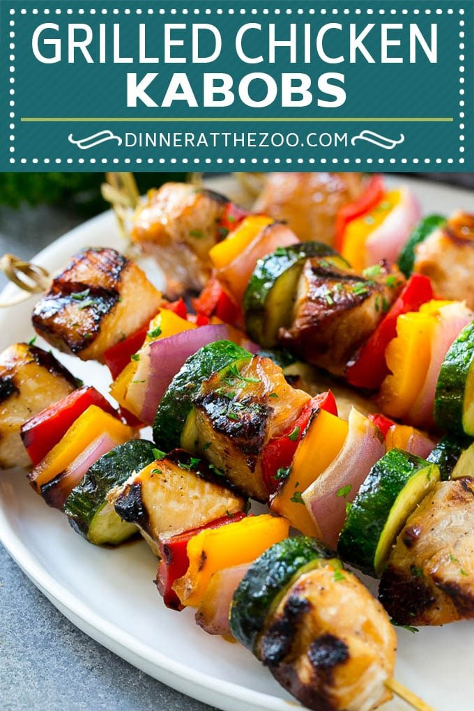 Grilled Chicken Kabobs Recipe | Chicken and Vegetable Kabobs | Grilled Chicken Skewers #grilling #chicken #kabobs #dinner #dinneratthezoo