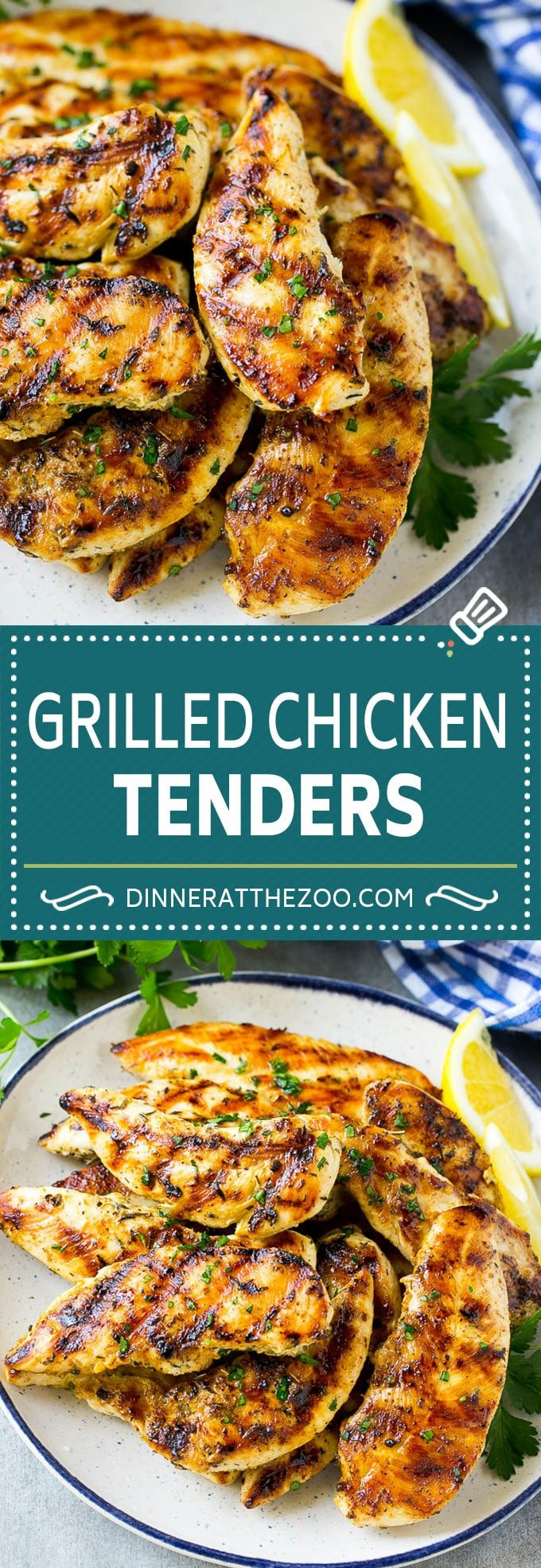 Grilled Chicken Tenders Recipe | Marinated Chicken | Lemon Garlic Chicken | Grilled Chicken #grilling #chicken #healthy #dinneratthezoo