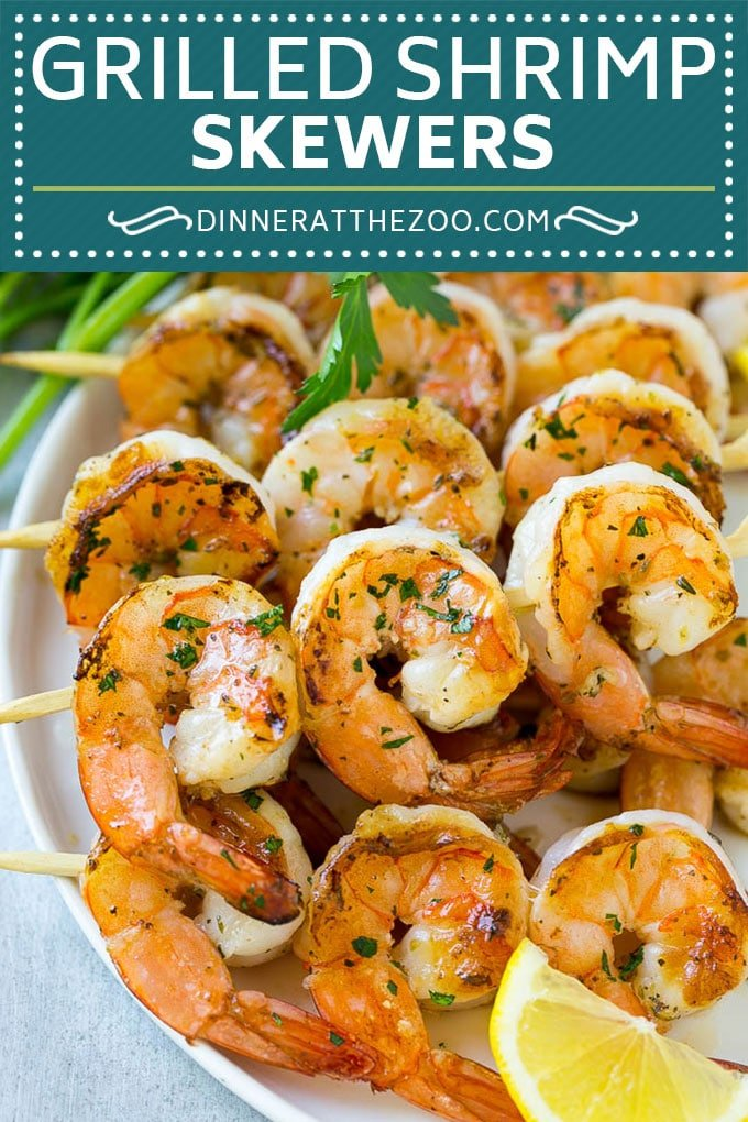 Grilled Shrimp Skewers Recipe | Shrimp Kabobs | Marinated Shrimp | Lemon Shrimp | Garlic Shrimp #shrimp #grilling #seafood #dinneratthezoo