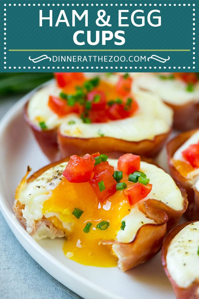 Ham and Egg Cups Recipe | Low Carb Breakfast | Ham and Eggs #ham ...