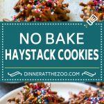 Haystack Cookies Recipe | No Bake Cookies | Chow Mein Noodle Cookies #nobakecookies #cookies #recipe #chocolate #dinneratthezoo
