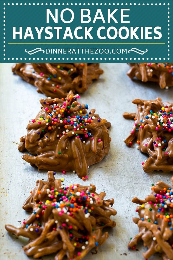 Haystack Cookies Recipe   No Bake Cookies   Chow Mein Noodle Cookies #nobakecookies #cookies #recipe #chocolate #dinneratthezoo