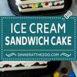 Ice Cream Sandwich Cake Recipe | Ice Cream Cake | Frozen Cake Recipe | No Bake Ice Cream Cake #icecream #cake #dessert #chocolate #dinneratthezoo