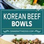 Korean Beef Bowls Recipe | Korean Ground Beef | Asian Beef Recipe | Rice Bowl #groundbeef #asianfood #rice #dinneratthezoo