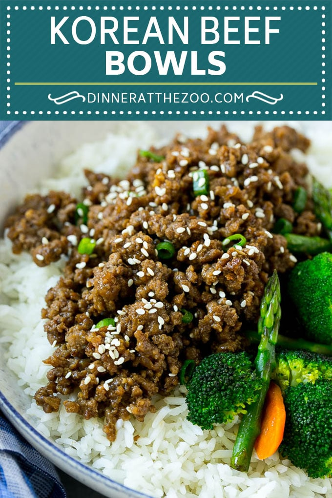 Korean Beef Bowls Recipe | Korean Ground Beef | Asian Beef Recipe | Rice Bowl #groundbeef #asianfood #rice #dinneratthezoo