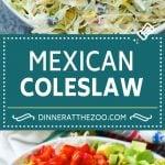 Mexican Coleslaw Recipe | Southwestern Coleslaw | Easy Coleslaw #coleslaw #mexicanfood #salad #dinneratthezoo