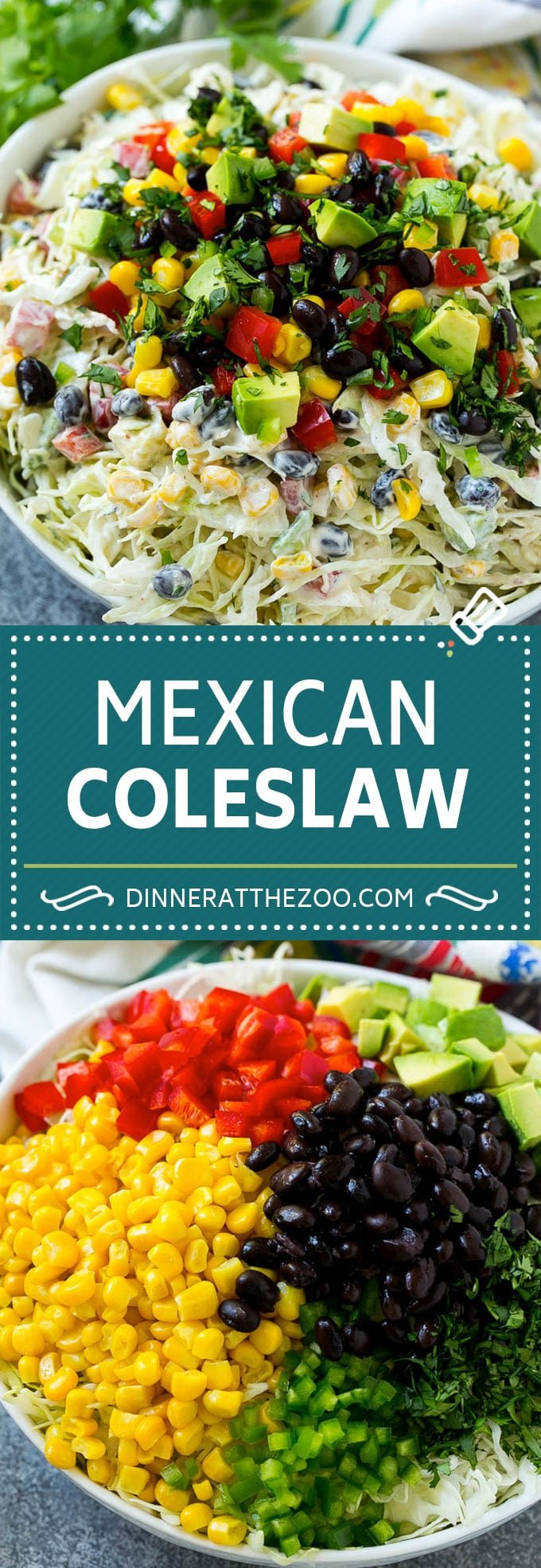 Mexican Coleslaw Recipe | Southwestern Coleslaw | Easy Coleslaw #coleslaw #mexicanfood #salad #dinneratthezoo