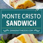 Monte Cristo Sandwich Recipe   Disneyland Monte Cristo Sandwich   Turkey Sandwich   Ham Sandwich #sandwich #dinneratthezoo #turkeysandwich