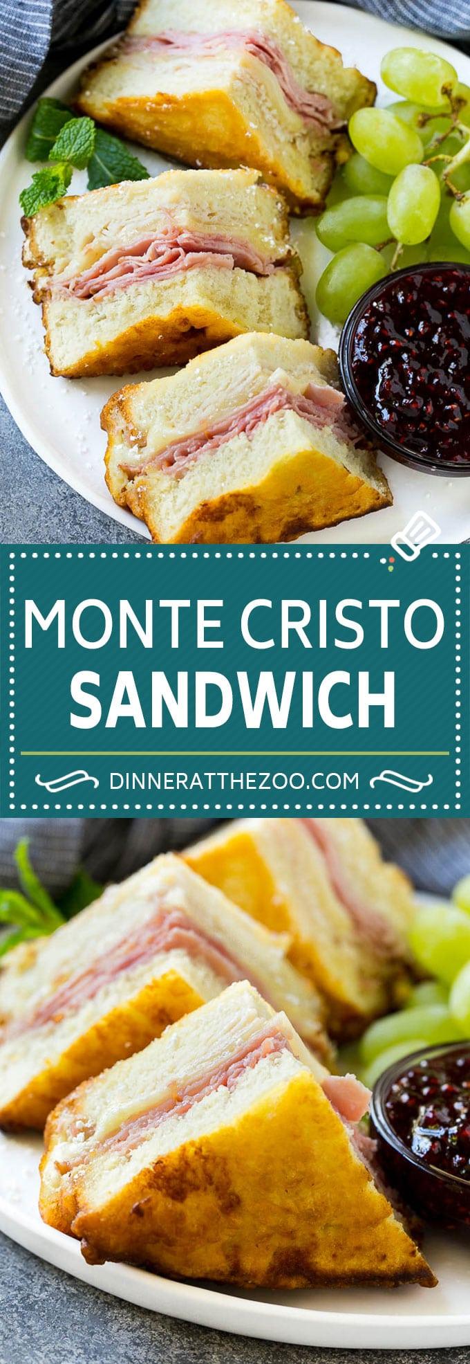 Monte Cristo Sandwich Recipe | Disneyland Monte Cristo Sandwich | Turkey Sandwich | Ham Sandwich #sandwich #dinneratthezoo #turkeysandwich