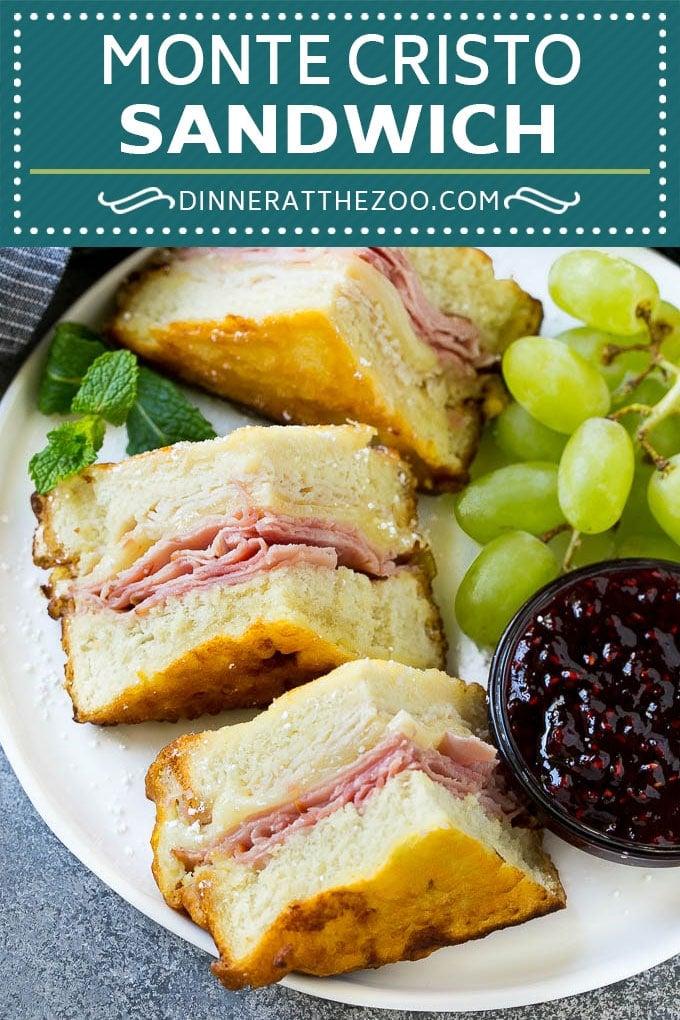 Monte Cristo Sandwich Recipe | Disneyland Monte Cristo Sandwich | Turkey Sandwich | Ham Sandwich #sandwich #turkeysandwich #dinneratthezoo