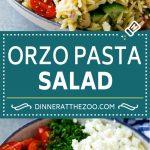Orzo Salad Recipe | Orzo Pasta Salad | Greek Orzo Salad | Mediterranean Orzo Salad #pastasalad #orzo #greekfood #salad #dinneratthezoo