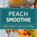 Peach Smoothie Recipe | Easy Smoothie Recipe | Peach Recipe #peach #smoothie #drink #dinneratthezoo