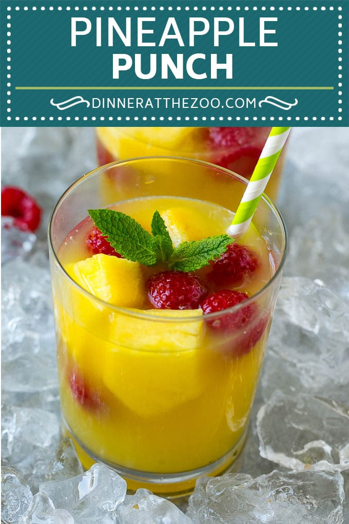 Pineapple Punch Recipe | Sparkling Punch | Fruit Punch | Pineapple Drink #pineapple #drink #dinneratthezoo