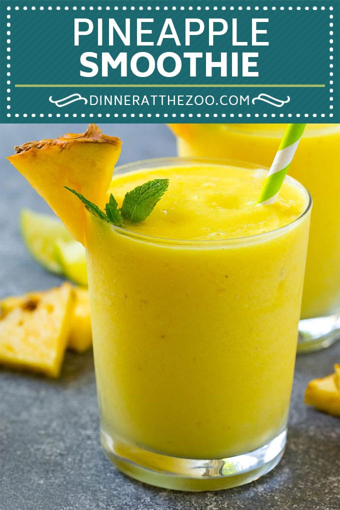 Pineapple Smoothie Recipe | Healthy Smoothie Recipe | Pineapple Recipe #pineapple #smoothie #drink #dinneratthezoo