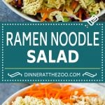 Ramen Noodle Salad Recipe | Oriental Salad | Asian Salad | Ramen Noodle Cabbage Salad #ramennoodles #salad #cabbagesalad #salad #dinneratthezoo