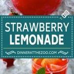 Strawberry Lemonade Recipe   Homemade Lemonade   Strawberry Drink Recipe #lemonade #strawberries #drink #dinneratthezoo