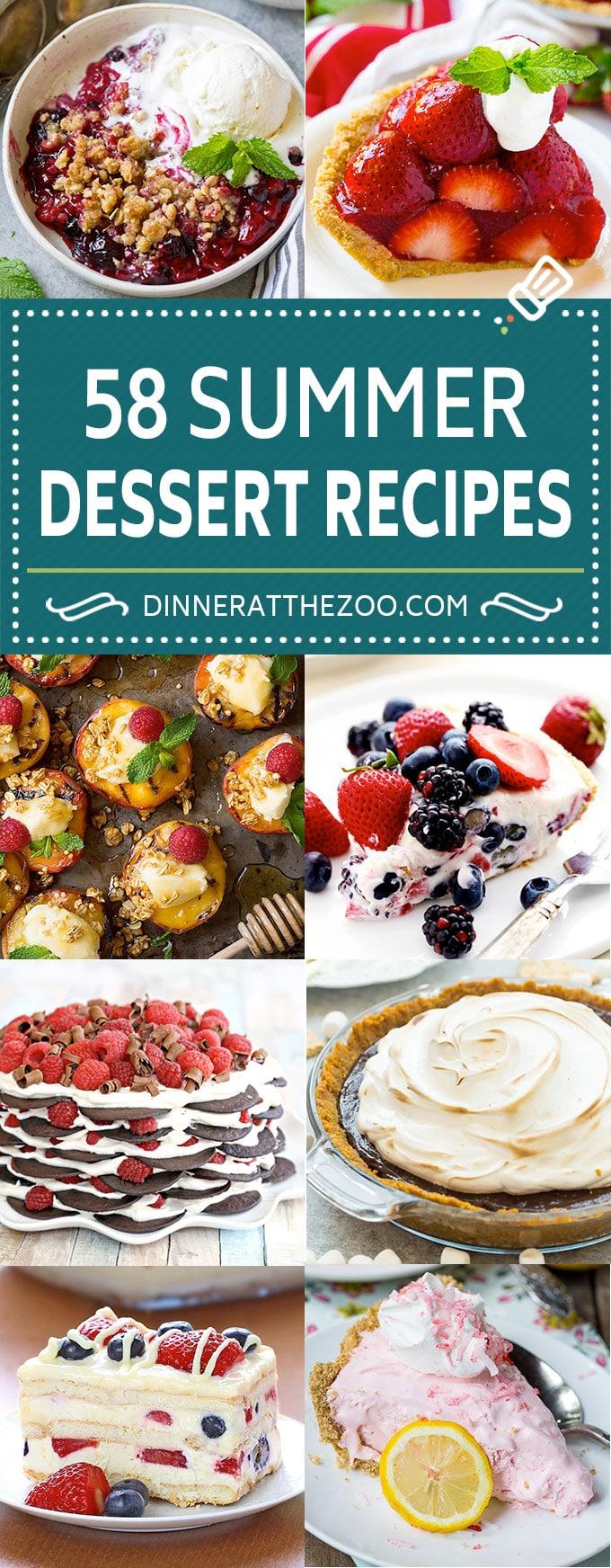 58 Summer Dessert Recipes | Frozen Dessert Recipes | No Bake Dessert Recipes | Fruit Crisps #summer #dessert #recipes #sweets #dinneratthezoo