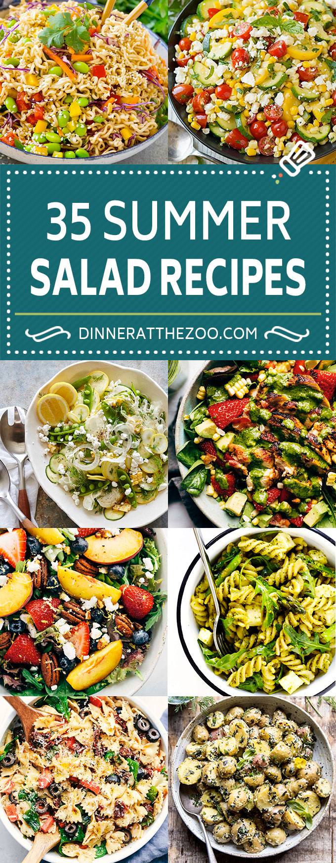 35 Summer Salad Recipes | Pasta Salad Recipes | Vegetable Salad Recipes | Potato Salad Recipes #salads #summer #recipe #dinneratthezoo