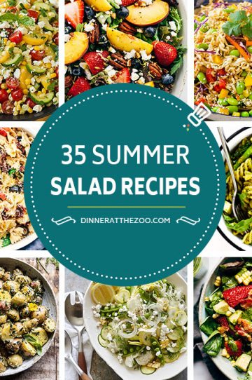 A comprehensive list of summer salad recipes including options for pasta salad, vegetable salads, potato salads, chicken salads and fruit salads. These fresh and colorful salads are perfect as side dishes or light meals.