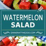 Watermelon Salad Recipe | Watermelon Feta Salad | Watermelon Cucumber Salad #watermelon #cucumber #salad #dinneratthezoo