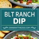 BLT Dip Recipe | Bacon Dip Recipe | Ranch Dip #dip #ranch #bacon #lettuce #tomato #appetizer #dinneratthezoo