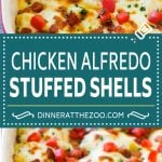 Chicken Alfredo Stuffed Shells Recipe | Stuffed Shells | Chicken Stuffed Shells | Baked Pasta #stuffedshells #alfredo #chicken #pasta #cheese #dinner #dinneratthezoo