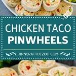 Taco Pinwheels Recipe | Pinwheel Sandwiches | Pinwheel Appetizer #sandwich #appetizer #taco #chicken #dinneratthezoo