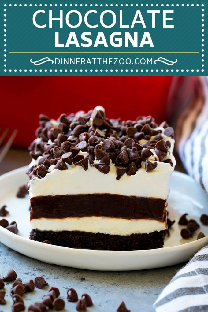 Chocolate Lasagna Recipe | No Bake Dessert | Chocolate Dessert #chocolate #dessert #nobake #sweets #dinneratthezoo