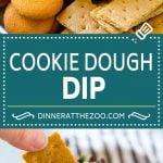 Cookie Dough Dip Recipe | Edible Cookie Dough | Chocolate Chip Cookie Dip #cookies #dip #cookiedough #dessert #snack #dinneratthezoo